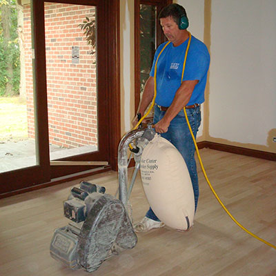 Sanding & Finishing Hardwood Floors